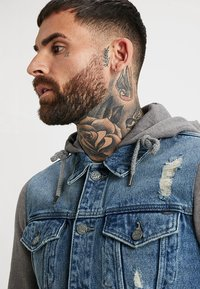 Only & Sons - ONSCOIN HOOD TRUCKER - Denim jacket - blue denim - 3