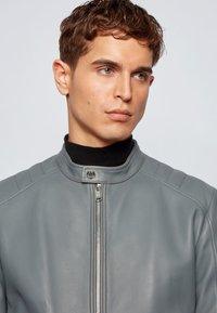 BOSS - MUBA - Leather jacket - grey - 2