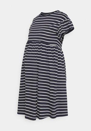 OLMMAY NEW LIFE  CUTLINE DRESS - Žerzejové šaty - night sky/white