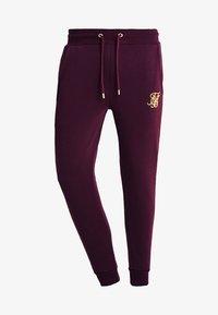 SIKSILK - CUT AND SEW TAPED PANTS - Verryttelyhousut - burgundy/cream - 3