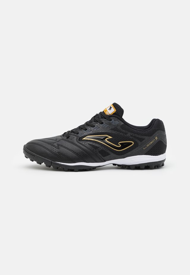 LIGA 5 - Astro turf trainers - black/gold