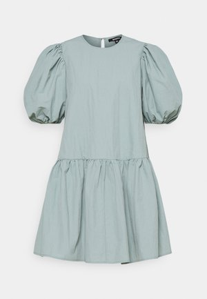 PUFF SLEEVE SMOCK DRESS - Sukienka letnia - baby blue