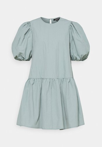 PUFF SLEEVE SMOCK DRESS - Day dress - baby blue