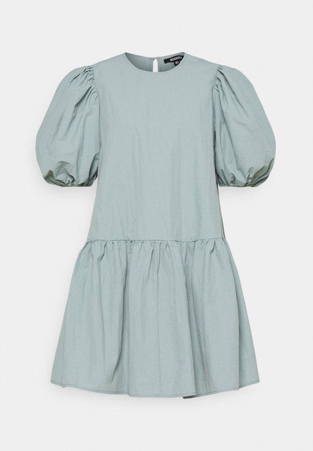 PUFF SLEEVE SMOCK DRESS - Kjole - baby blue