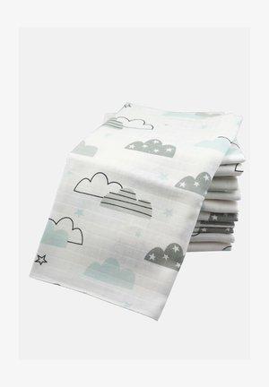10 PACK  - Muslin blanket - 10 wolken mint