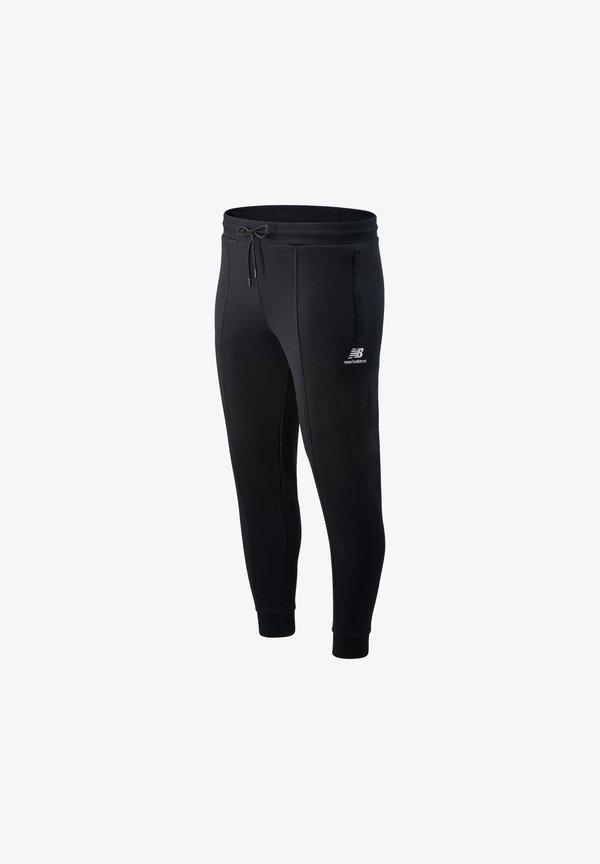 New Balance Village - Spodnie treningowe - black/czarny Odzież Męska MYZD