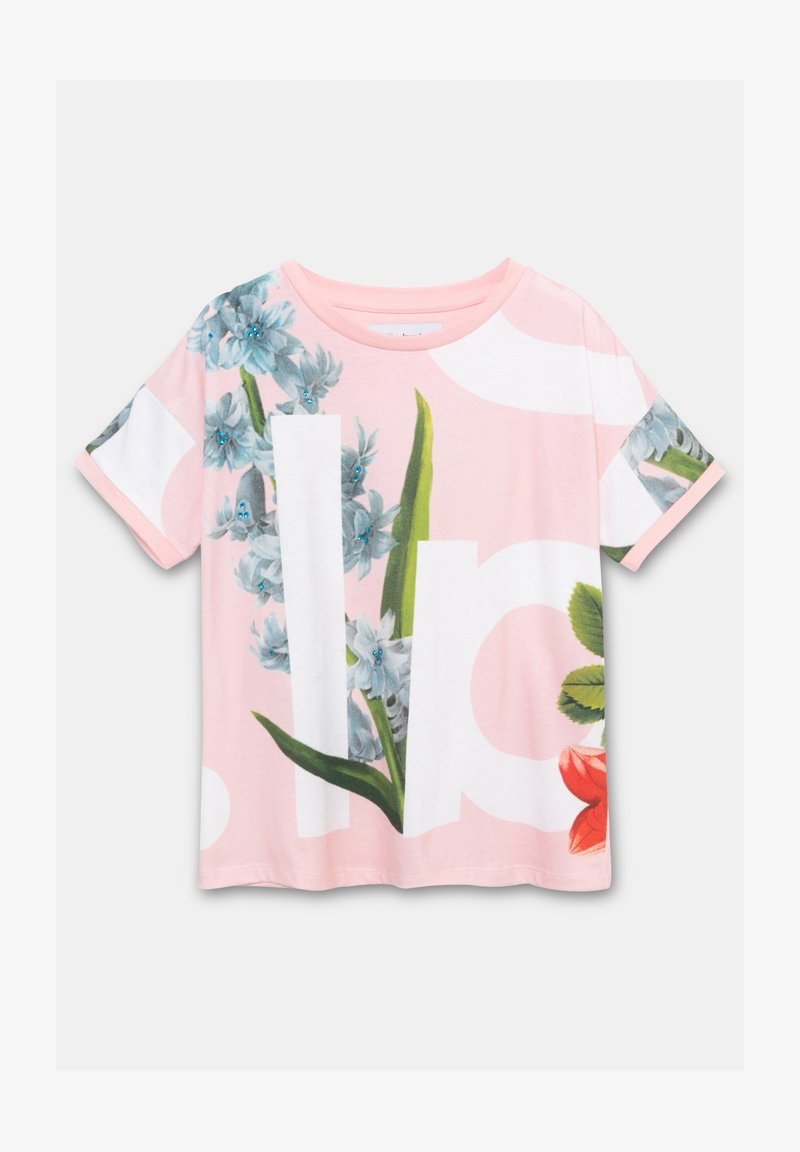 Desigual - TURIN - Print T-shirt - red