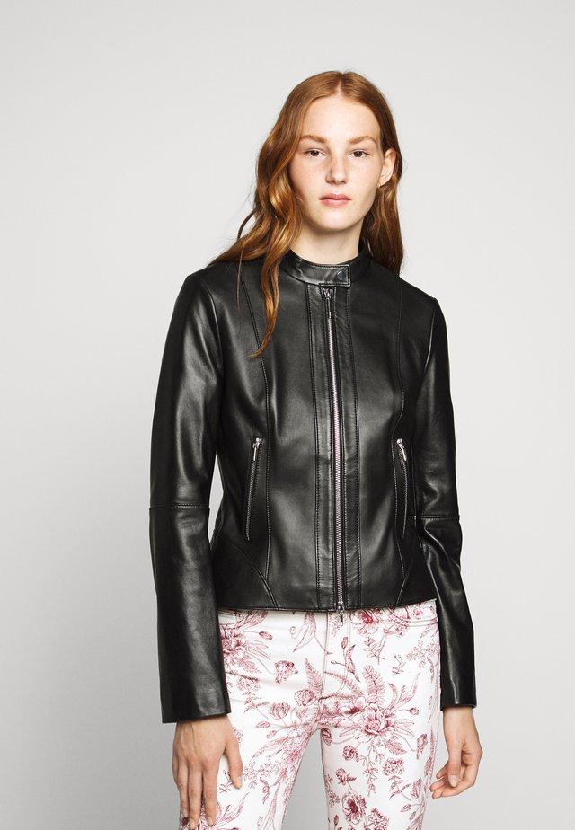 LONIA - Kožená bunda - black