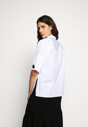 POPLIN BLOUSE SHANKS - Button-down blouse - white