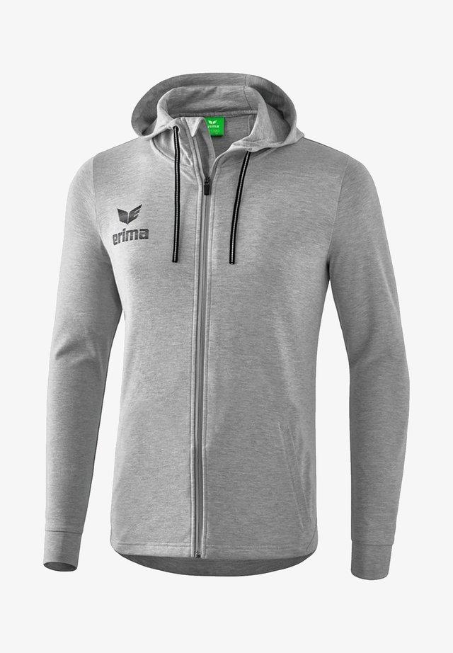 Zip-up hoodie - grauschwarz
