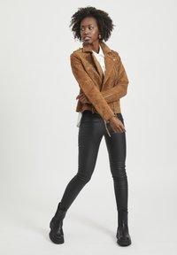 Vila - VICRIS - Leather jacket - brown - 1