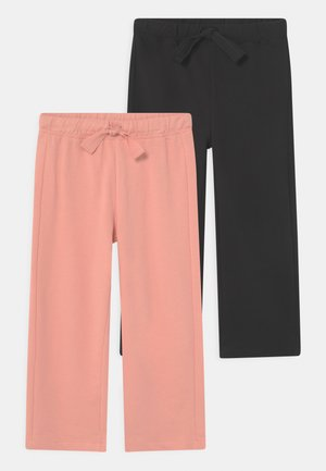 CROPPED 2 PACK - Tracksuit bottoms - burnt coral/caviar
