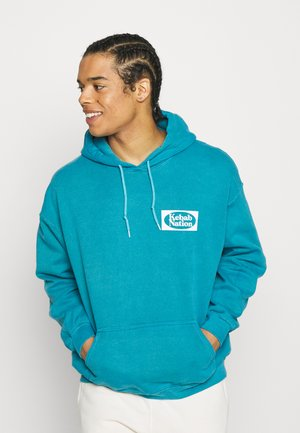 KEBAB NATION OVERDYE HOODIE - Sweatshirt - blue