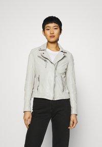Gipsy - LABAGV - Leather jacket - off white - 0