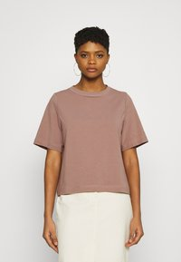 Weekday - TRISH - Basic T-shirt - brown - 0