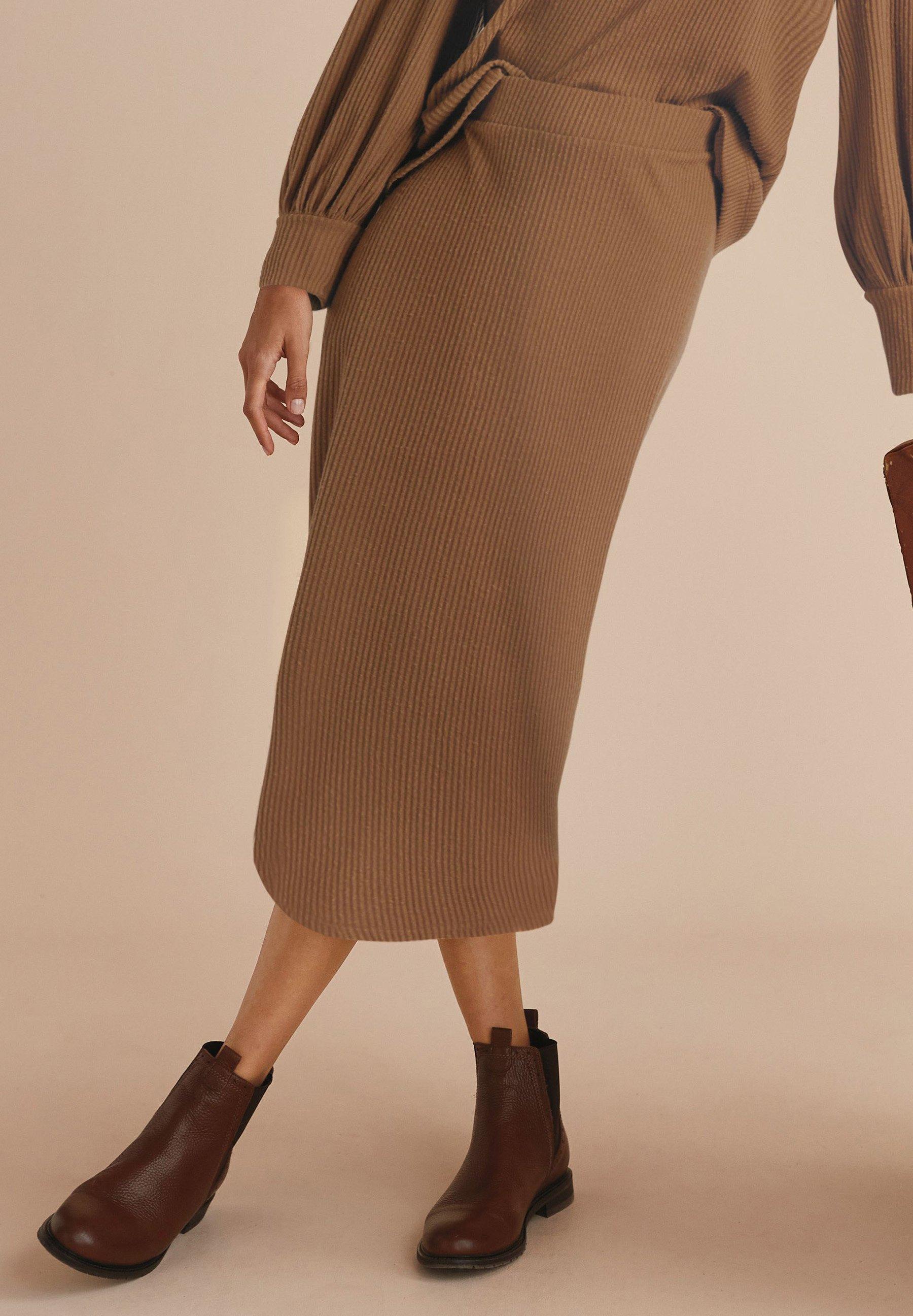 Femme RIB SKIRT - Jupe longue