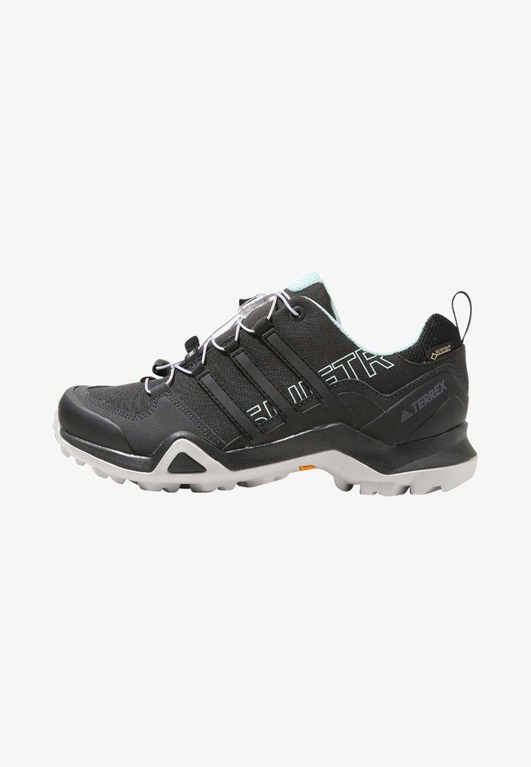 adidas Performance - TERREX SWIFT R2 GORE-TEX - Hiking shoes - core black/ash green