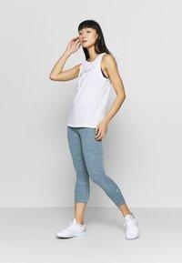 Nike Performance - DRY TANK LEOPARD - Sports shirt - white - 1