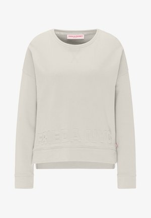SWEATSHIRT MIT 3-D DRUCK - Sweatshirt - off white