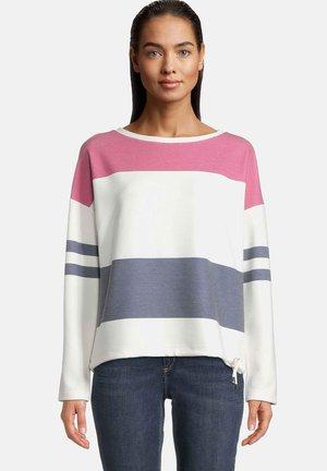MIT STREIFEN - Sweatshirt - cream/pink