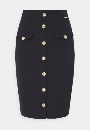 GONNA LONGUETTE BOTTONI EDEN - Pencil skirt - blu navy