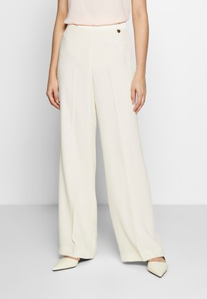 PANTALONE PALAZZO IN CADY ENVER - Trousers - avorio