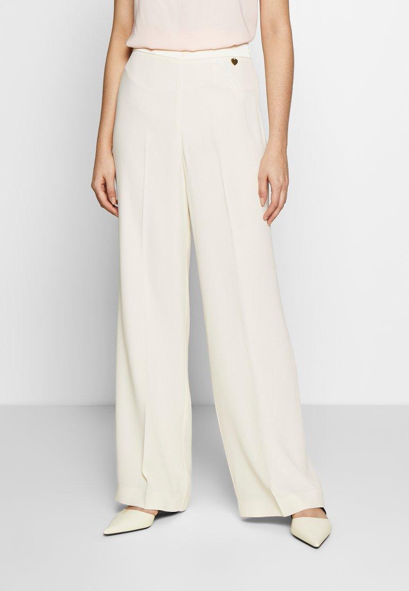 TWINSET - PANTALONE PALAZZO IN CADY ENVER - Pantalon classique - avorio