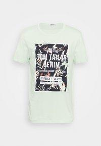 TOM TAILOR DENIM - Print T-shirt - smooth green - 0