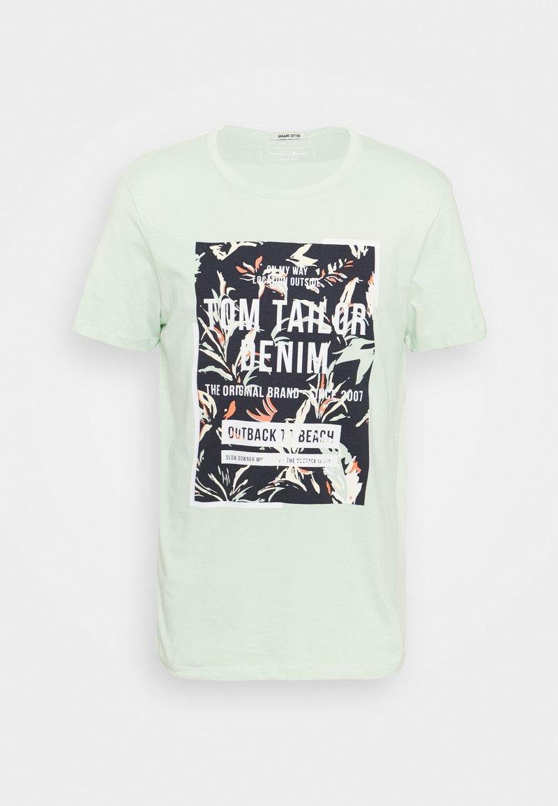 TOM TAILOR DENIM - Print T-shirt - smooth green