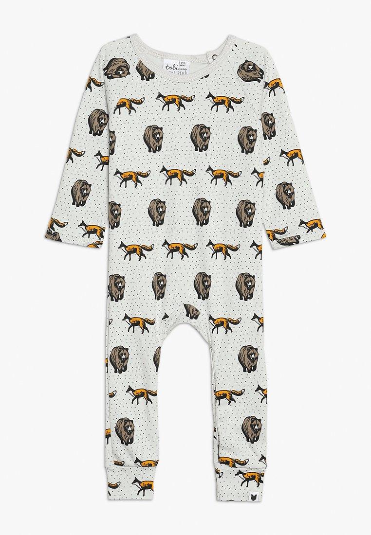 Tobias & The Bear - BABY THE FOX AND THE BEAR LONG ROMPER - Pyjamas - pale stone