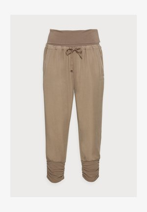 LINE PANTS - Tygbyxor - timber wolf