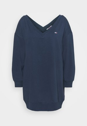 TJW V-NECK SWEAT DRESS - Robe d'été - twilight navy