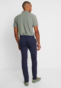 TOM TAILOR - Chino kalhoty - navy yarn dye structure - 2
