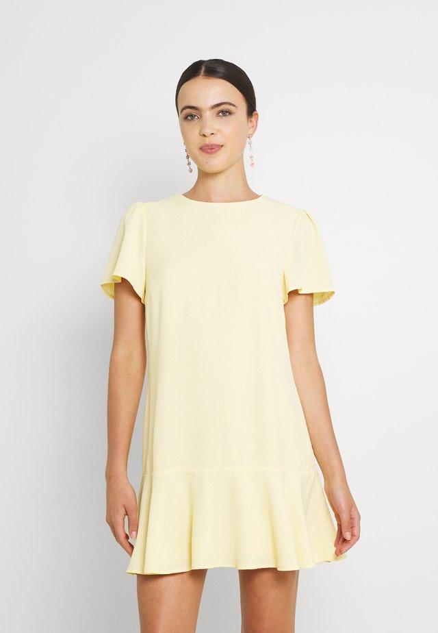 FLOUNCE ME DRESS - Korte jurk - light yellow
