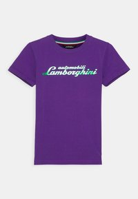 Automobili Lamborghini Kidswear - LOGOSCRIPT - Print T-shirt - purple mel - 0