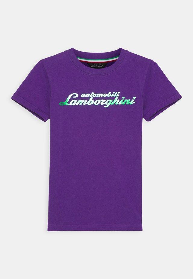 LOGOSCRIPT - Printtipaita - purple mel