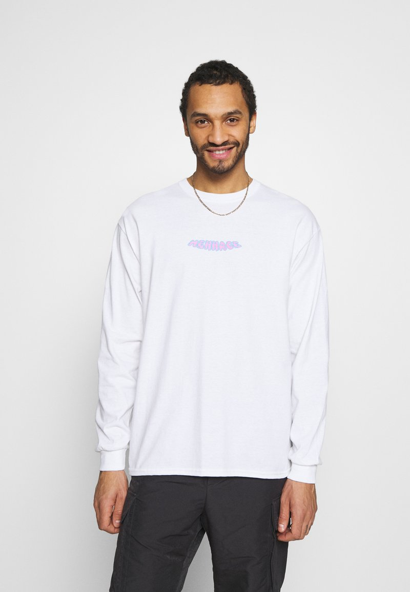 Mennace - MENNACE WORLDWIDE - Long sleeved top - white