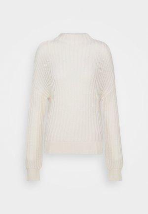 HIGHNECK - Strickpullover - pristine white