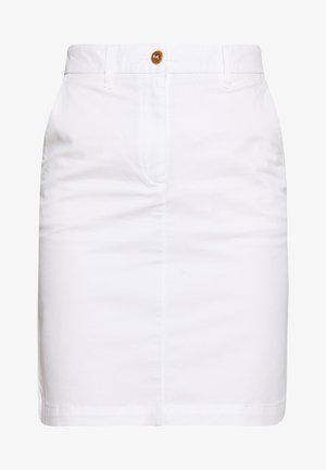 CLASSIC CHINO SKIRT - Pencil skirt - white