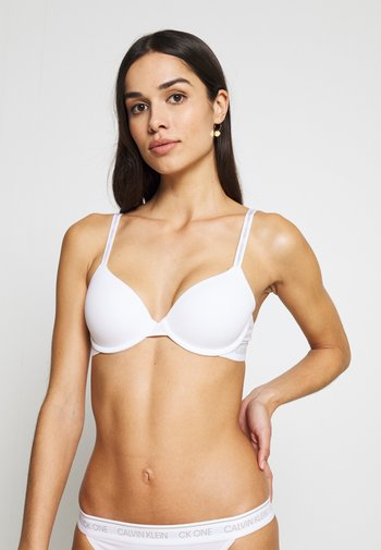 ONE LINED DEMI - T-shirt bra - white