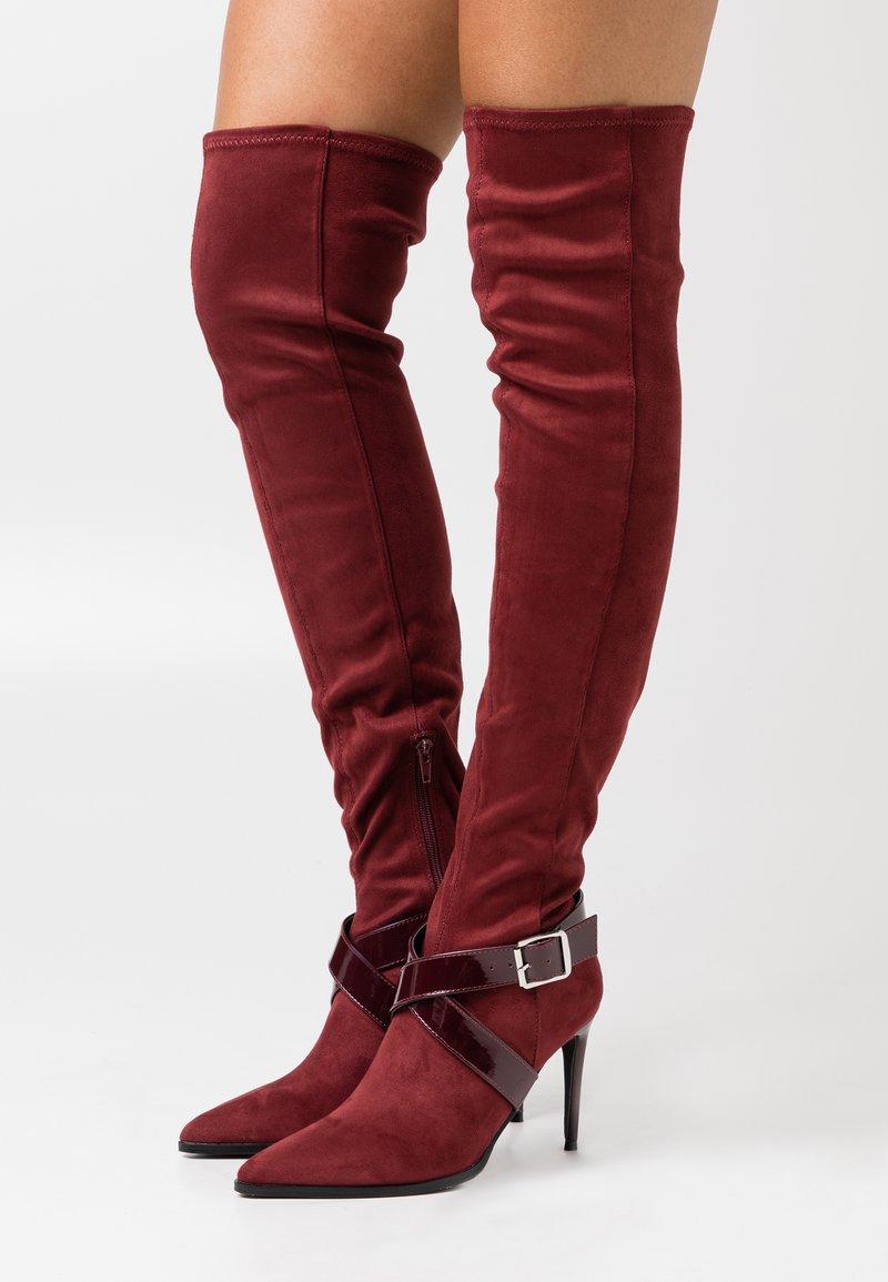 Even&Odd - High heeled boots - bordeaux