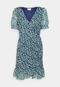 Vila - VIVOLETTE WRAP DRESS - Vestido informal - navy blazer/cottage - 4