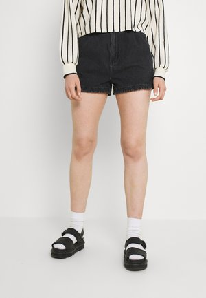 MOM - Denim shorts - washed black
