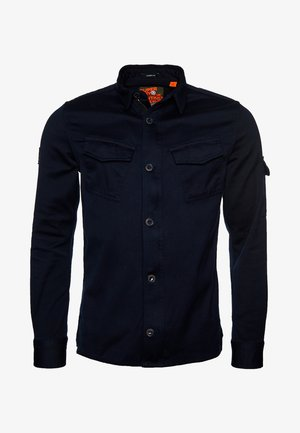 SUPERDRY PATCH PATROL LONG SLEEVED SHIRT - Vapaa-ajan kauluspaita - covert navy