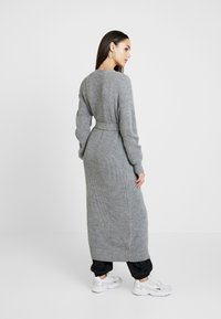 Missguided - MAXI BELTED CARDIGAN - Gilet - grey - 2