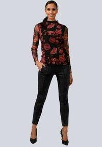 Alba Moda - Long sleeved top - rot/schwarz - 1