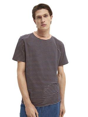 CLASSIC CREWNECK STRIPE TEE - T-shirt print - black