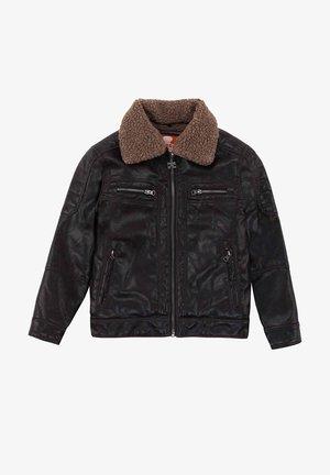 WITH DETA - Faux leather jacket - marrón