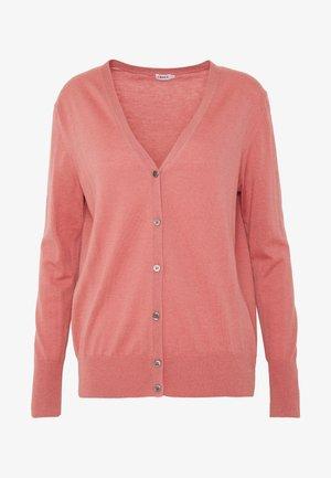 MIX NECK CARDIGAN - Cardigan - pink cedar