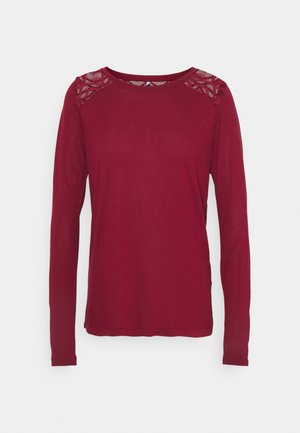 ONLNICOLE LIFE NEW MIX  - Long sleeved top - pomegranate